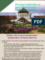 Peranan Pejabat Perempuan Dalam Pembangunan Berwawasan Gender