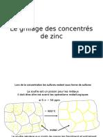 Le Grillage Des Concentres de Zinc