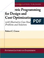 (Synthesis Lectures on Engineering) Robert Creese-Geometric programming for design and cost optimization-Morgan & Claypool Publishers (2009).pdf