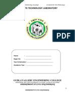 Concrete Technology Lab Manual