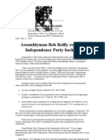 Bob Reilly Independence Party Endorsement