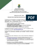 Edital Mestrado 2016 - PPGS