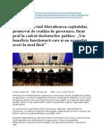 Proiectul Privind Liberalizarea Capitalului si Stimularea Fiscala