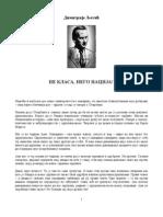 Dimitrije Ljotic - Ne Klasa Nego Nacija