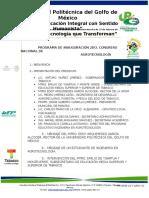 Programa Inaugural Congreso Upgm