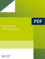 UPU CatalogueStandardsCatalogueOfUpuStandardsEn