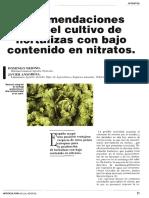 Niveles de Nitrato en Suelo Para Diferentes Cultivos