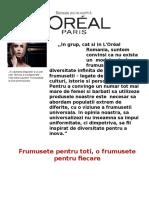 Proiect l'Oreal