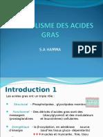 Biochimie-Metabolisme Acides Gras