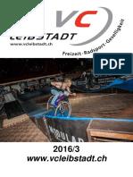 Vereinsheft Veloclub Leibstadt 2016/3