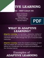 adaptive learning pptx