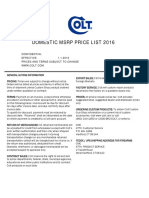 2016 Colt Commercial Price List