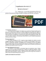 Test d'Evaluation - A2-Comprehension Des Ecrits
