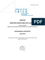 Brochure Master Ddl Inalco Didactique FLE