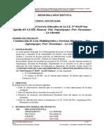 Memoria Descriptiva - Losa Deportiva Uchuccarcco