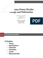Project 1 - L-band Wilkinson Power Divider Design and Testing (December 2015)