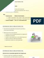 Criterios de Seleccion de Proyectos