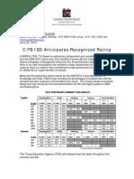 Press Release - C-FB ISD Anticipates Recognized Rating
