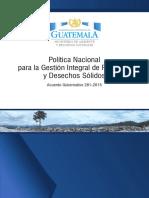 Guatemala Politica Nacional Gestion Integral de Residuos Solidos