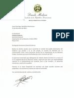334224137 Carta de Felicitacion Del Presidente Danilo Medina a Antonio Guterres Secretario General de Las Naciones Unidas