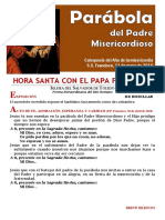 HORA SANTA CON EL PAPA FRANCISCO. El Padre Misericordioso (19)