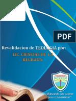 Revalidacion Ciencias de La Religion