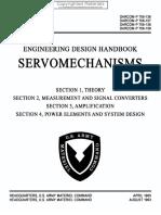Engineering Design Handbook - Servomechanisms, Sections 1-4