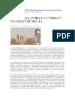 De Ciudades, Infraestructuras y Políticas Culturales