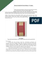 Ragam Hias Dari Sumatera Utara