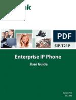 Yealink SIP-T21P SIP-T21 User Guide V72 1