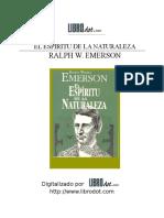 El Espíritu de La Naturaleza - Ralph Waldo Emerson.doc