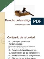 2014 Marzo, Derecho de Las Obligaciones, Envío
