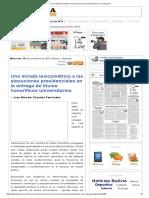 Las alocuciones del presidente boliviano en ocasión de la entrega de títulos honoríficos