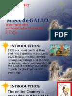 Day 1 - Misa de Gallo Homily