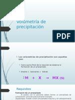 Volumetría de Precipitación