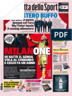 La Gazzetta Dello Sport Rosa Con Edizioni Locali - 25 Ottobre 2016