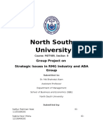 Strategic Issues of RMG Industry and ABA Group Term Project (1)