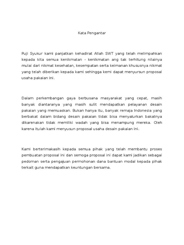 Proposal Usaha Baju Muslim Gamis Kombinasi