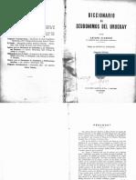 Scarone Diccionario de Seudonimos Del Uruguay 1942