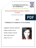 E Business; E Commerce; E Government