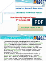 Conservation & Efficient Use of Petroleum Products