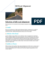 Selection of Hill Road Alignment