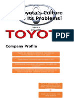 DID TOYOTA WORK CULTURE CAUSE ITS PROBLEM