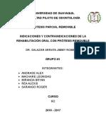 Indicaciones y Contraindicaciones de Protesis Removibles