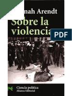 Hannah Arendt Sobre La Violencia