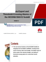 WCDMA RAN12.0 NodeB License Data Export and Threshold-Crossing Alarms-20100130-B-1.0