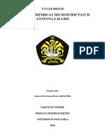 Membuat Antena Microstrip 2.43Ghz