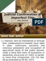 Land Titles - Judicial Confirmation of Imperfect TItle-Orig Reg Steps