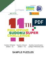 11pssc Elimination Sample Puzzles
