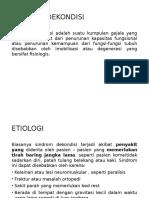 Definisi Dan Etiologi Sindroma Dekondisi